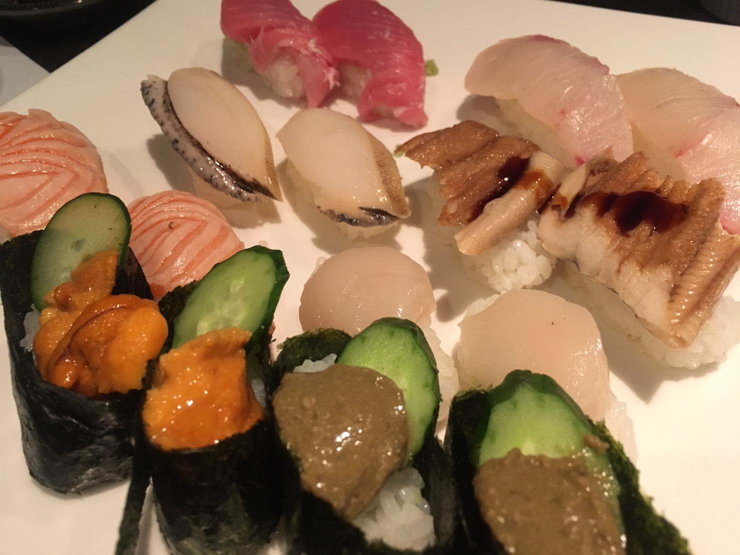 三宮の食べ放題 寿司隆明の握り寿司